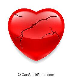 coração, rachado