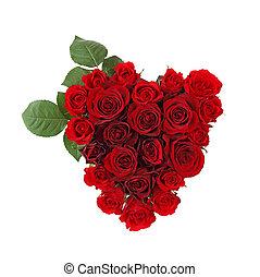 coração, rosas