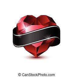 coração, ruby-01, vermelho