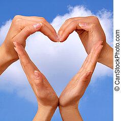 coração, símbolo, 3
