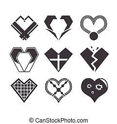 coração, símbolo, desenho