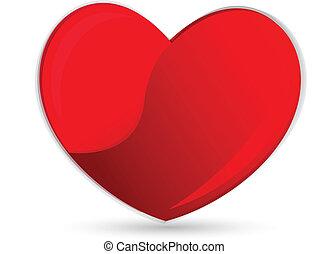 coração, símbolo, logotipo