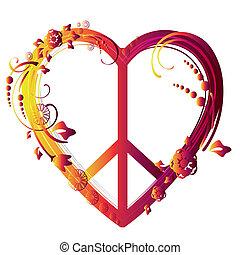 coração, símbolo, paz