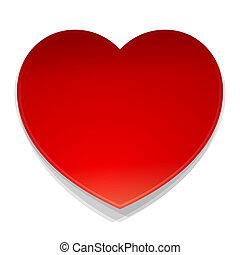 coração, símbolo, vetorial