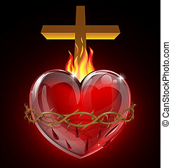 coração sagrado, ilustração