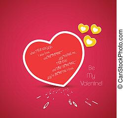 coração, saudações, valentine