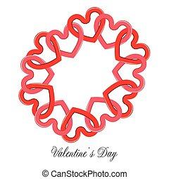coração, shapes., grupo, dia, valentine