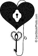 coração, tecla