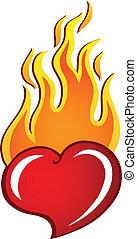 coração, tema, 2, imagem