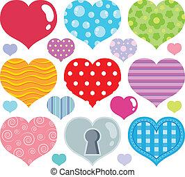 coração, tema, imagem, 7