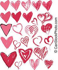 coração, textura, ícone