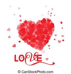 coração, valentines, composição