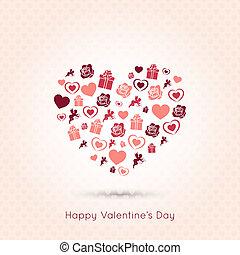 coração, valentines, seamless, desenho, fundo, dia