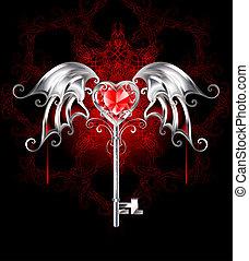 coração, vampiro, tecla