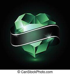 coração, verde, emerald-01