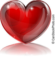 coração, vermelho, ilustração