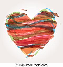 coração, vetorial, ilustração