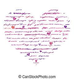 coração, vetorial, love., illustration., experiência.