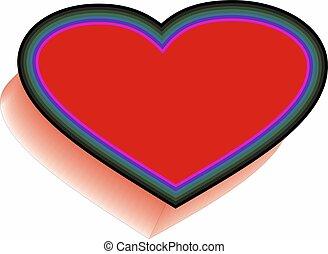 coração, vida, amor, symol