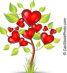 corações, árvore