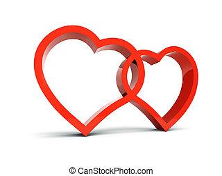 corações, 3d