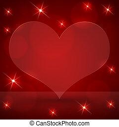 corações, abstratos, fundo