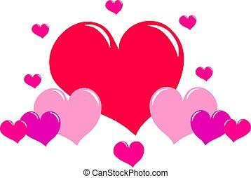 corações, amor