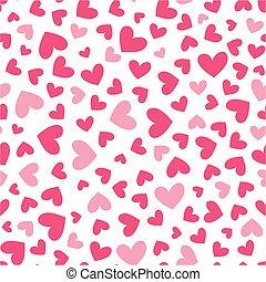 corações, amor, seamless, padrão