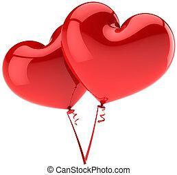 corações, balões, Amor