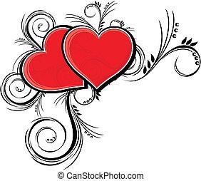 corações, beleza