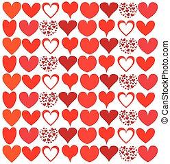 corações, bonito, seamless, fundo