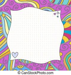 corações, cachos, fundo, coloridos