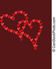 corações, chocolate