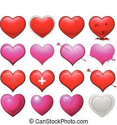 corações, cobrança