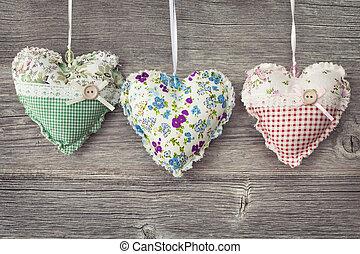 corações, coloridos