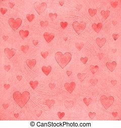 corações, Dia, fundo, valentine
