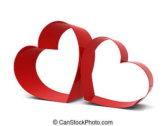 corações, dois