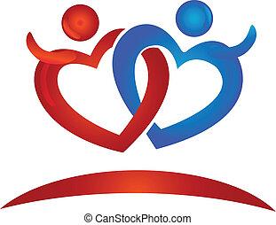 corações, figuras, logotipo