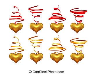 corações, flâmula