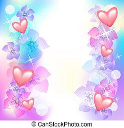 corações, flores, valentine