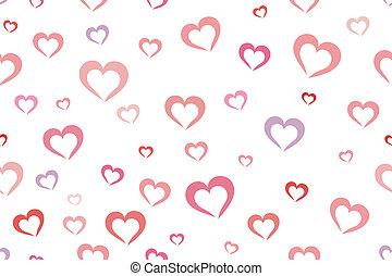 corações, fundo