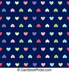 corações, fundo, dia valentine