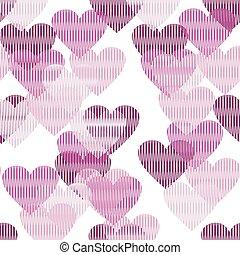 corações, fundo, seamless