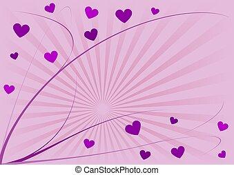 corações, linhas