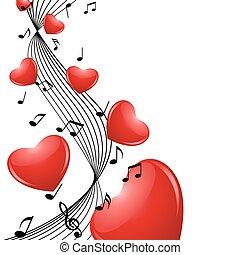 corações, melodia