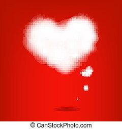 corações, nuvem