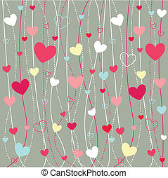 corações, papel parede, ícones, valentine