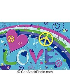 corações, paz, amor