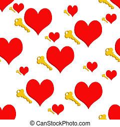 corações, repetindo