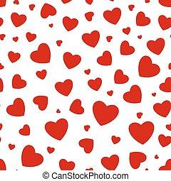 corações, seamless, fundo
